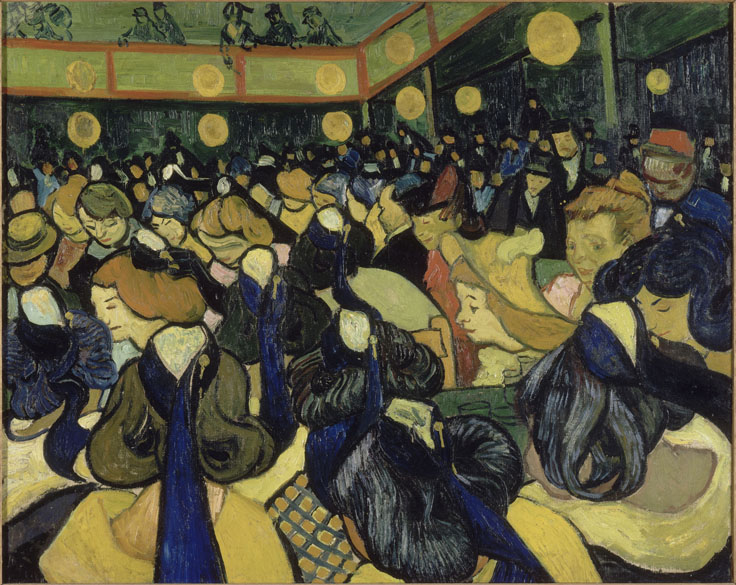 Obra La salle de danse à Arles do pintor impressionista Vincent Van Gogh