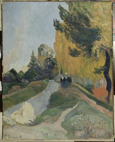 Obra Les Alyscamps do pintor impressionista Paul Gauguin