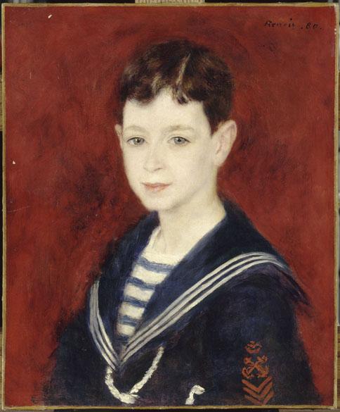 Obra Portrait de Fernand Halphen do pintor impressionista Auguste Renoir