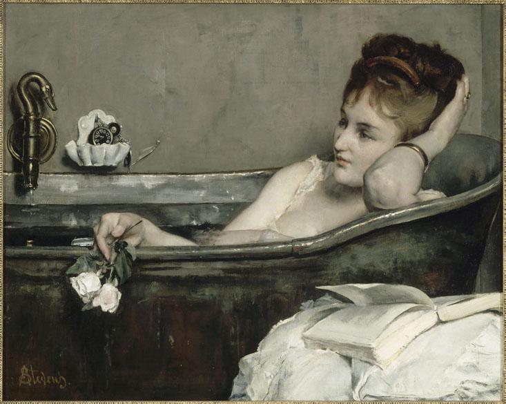 Obra Le Bain do pintor impressionista Alfred Stevens
