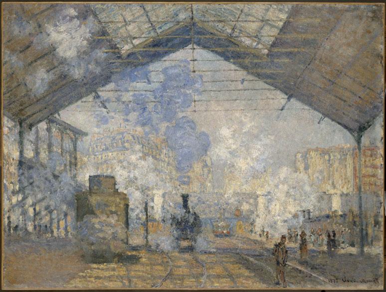 Obra La gare Saint-Lazare do pintor impressionista Claude Monet
