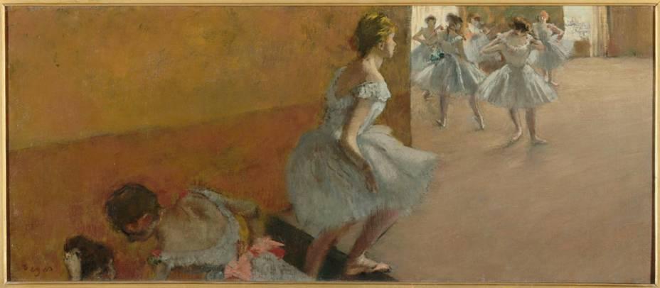 Obra Danseuses montant un escalier do pintor impressionista Edgar Degas