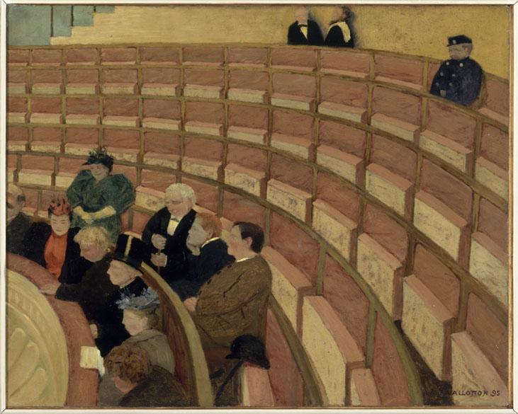 Obra La troisième galerie au théâtre du Châtelet do pintor impressionista Félix Vallotton