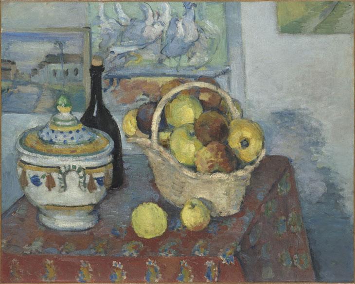 Obra Nature morte à la soupière do pintor impressionista Paul Cézanne