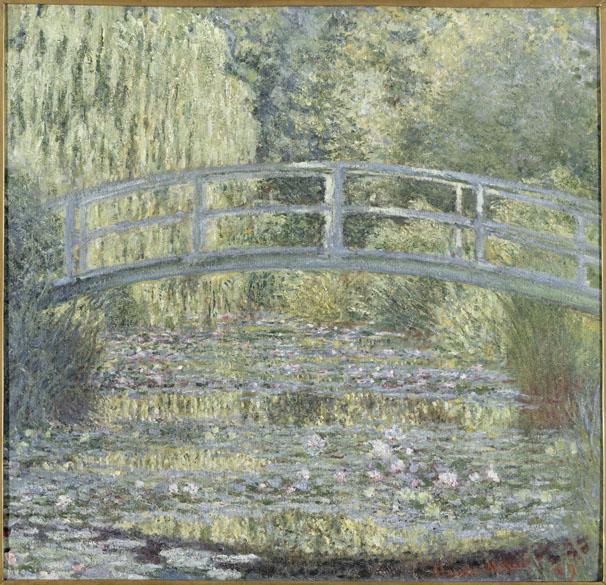 Obra Le bassin aux nymphéas, harmonie verte do pintor impressionista Claude Monet