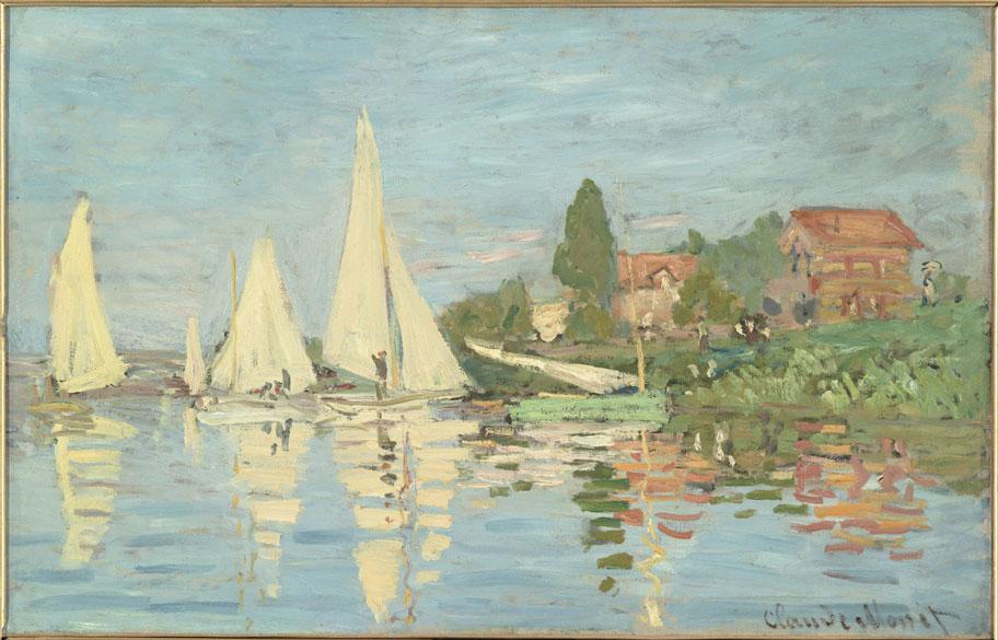 Obra Régates à Argenteuil do pintor impressionista Claude Monet