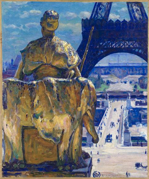 Obra La tour Eiffel do pintor impressionista Louis Welden Hawkins