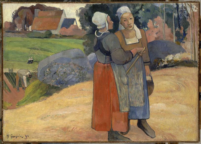 Obra Paysannes bretonnes do pintor impressionista Paul Gauguin