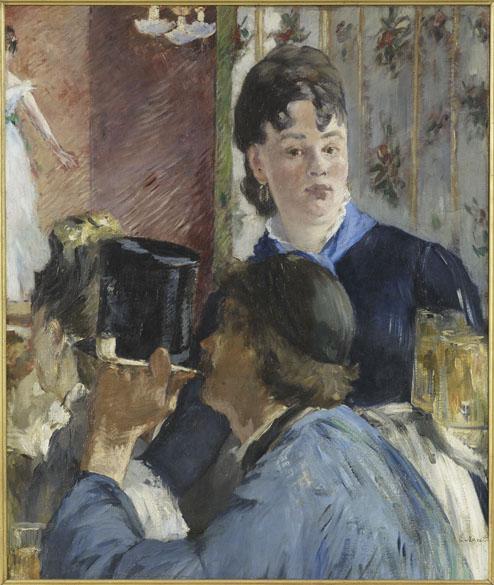 Obra La Serveuse de bocks do pintor impressionista Edouard Manet