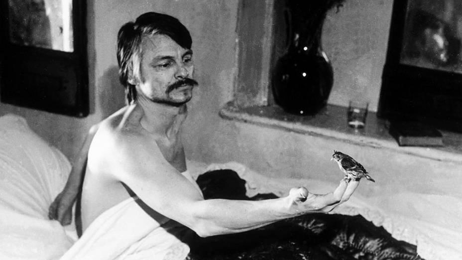 Fotografia da exposição sobre Andrei Tarkóvski que acontece dentro da Mostra Internacional de São Paulo