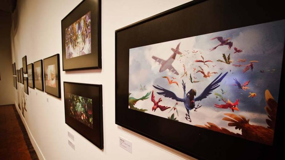 Desenhos feitos para o filme Rio, de Carlos Saldanha, em exposição no Museu Nacional de Belas Artes