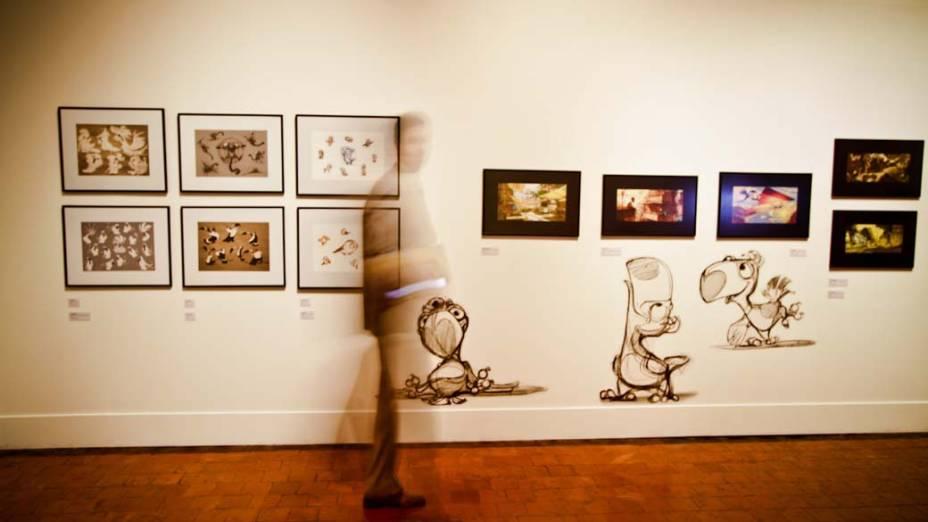 Desenhos produzidos para o filme Rio, de Carlos Saldanha, em exposição no Museu Nacional de Belas Artes