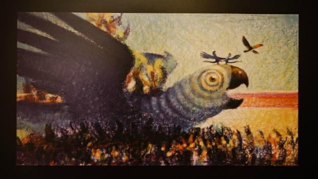 Desenho feito para Rio, em exposição no Museu Nacional de Belas Artes