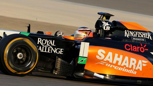 Nico Hulkenberg durante treino no Bahrein