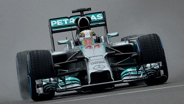 Lewis Hamilton durante o Grande Prêmio da China de Fórmula 1