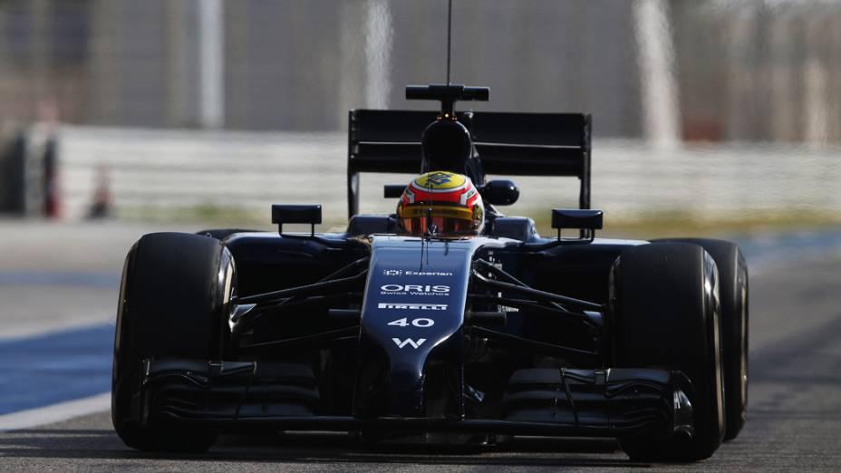 O brasileiro Felipe Nasr no quato dia de testes no Bahrein