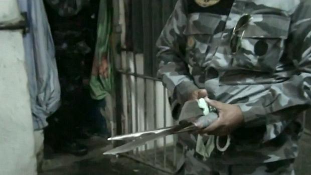 Polícia descobriu armas escondidas pelos presos em Pedrinhas