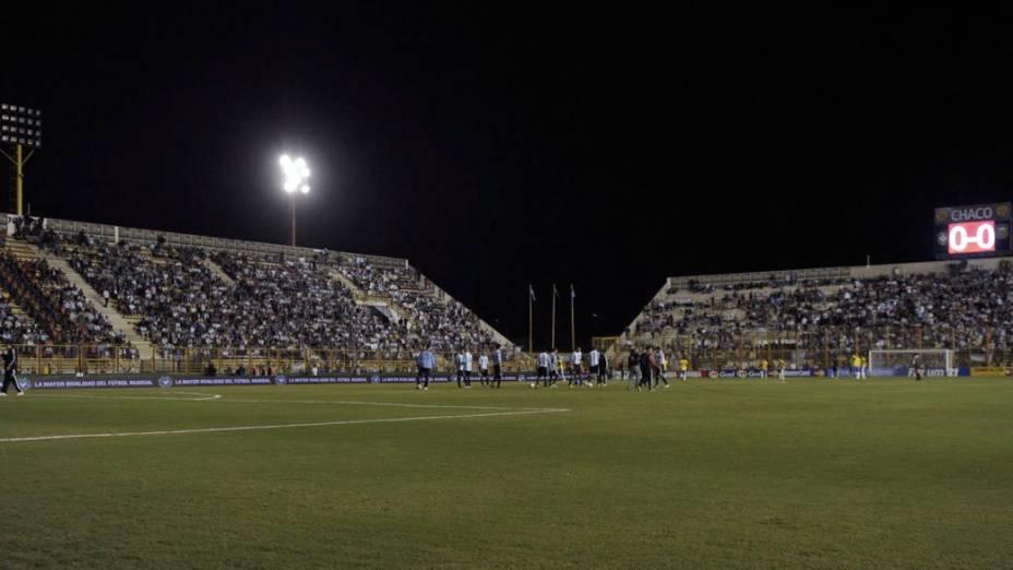 A falha no sistema de iluminação no estádio de Resistência, na Argentina