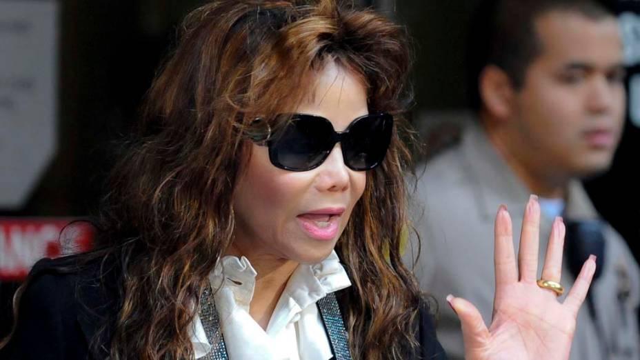 La Toya Jackson após a condenação do médico Conrad Murray à pena máxima, quatro anos de cadeia na prisão de Los Angeles, pela morte de Michael Jackson