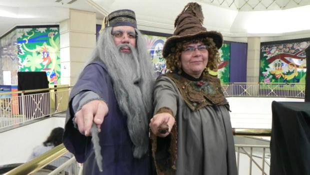Avelino e Denise Ferro acompanham os livros e filmes de Harry Potter desde 2004