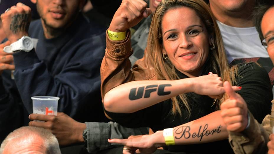 Fãs de Vitor Belfort no UFC Jaraguá do Sul, norte de Santa Catarina