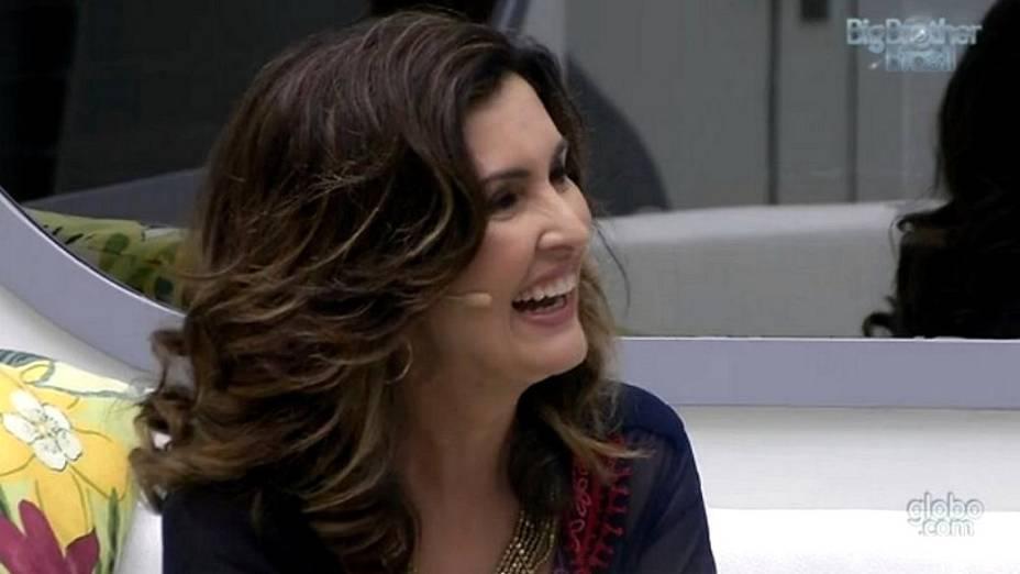 Fátima Bernardes visita o BBB13
