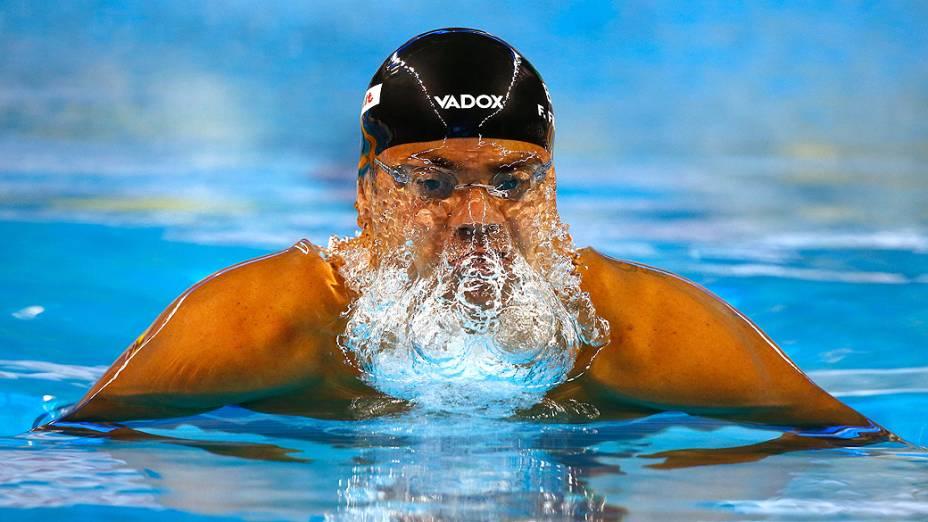 Felipe Franca durante o Campeonato Mundial FINA em Piscina Curta no Hamad Aquatic Centre. 06 de dezembro de 2014, Doha, Catar