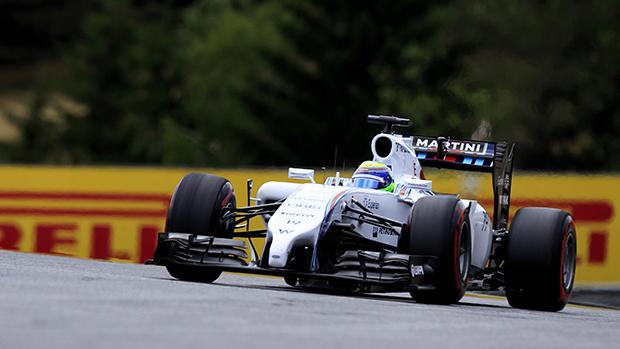 Felipe Massa, da Williams termina na quarta colocação no GP da Áustria de F1, em Spielberg