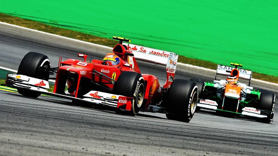 O melhor brasileiro foi Felipe Massa, que vai largar em quinto no GP do Brasil 2012, em interlagos