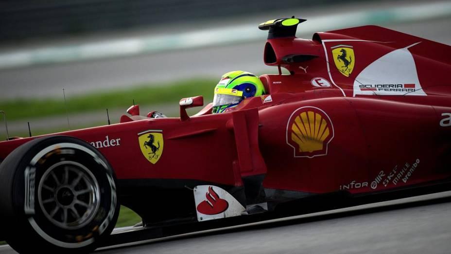 Felipe Massa, piloto brasileiro da Ferrari, no GP da Malásia, no último domingo