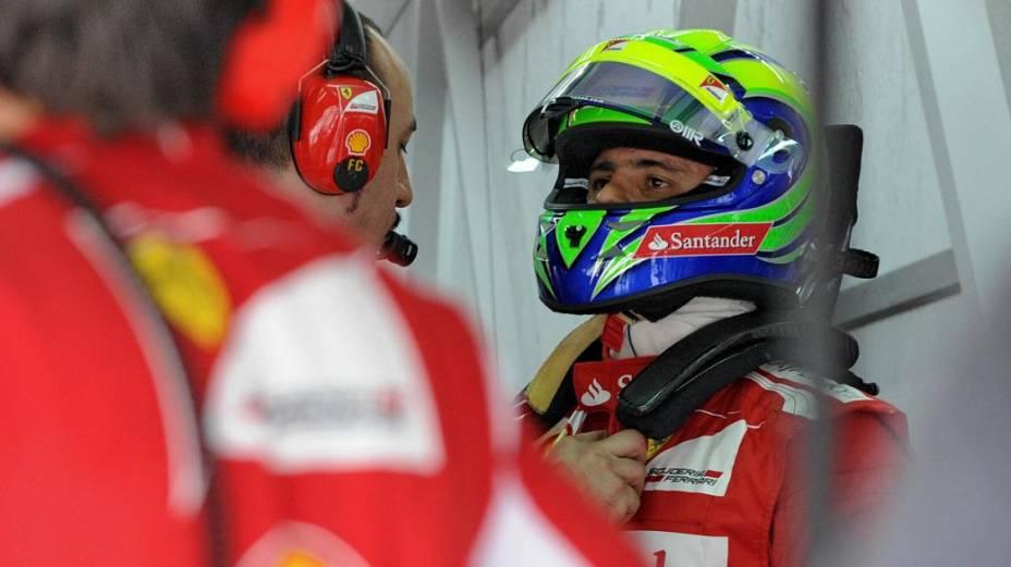 Felipe Massa, da Ferrari, nos treinos para o GP da Malásia