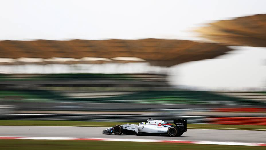 O brasileiro Felipe Massa (Williams) durante o Grande Prêmio da Malásia