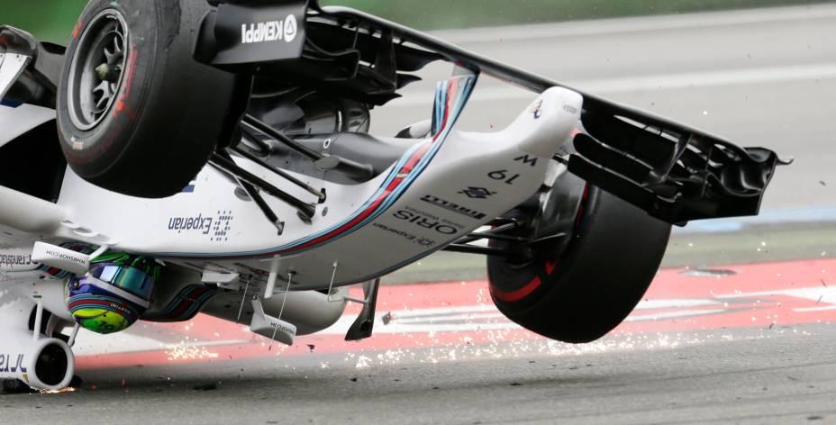 O brasileiro Felipe Massa durante o grande prêmio de fórmula 1 dos Estados Unidos, neste domingo (17)