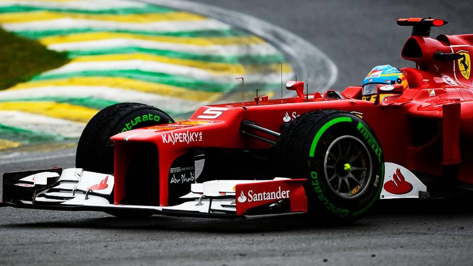 Fernando Alonso durante o GP do Brasil de Fórmula 1, em Interlagos