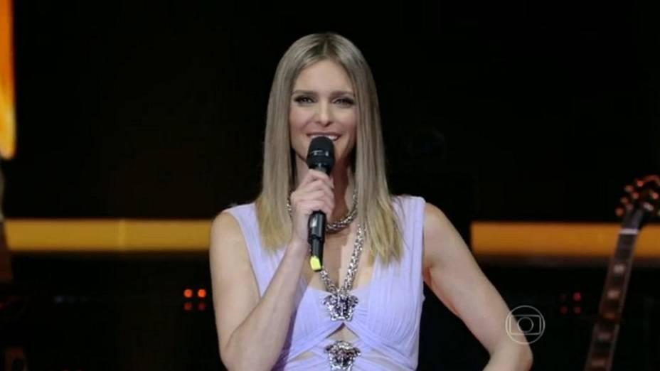 Fernanda Lima, na estreia de SuperStar