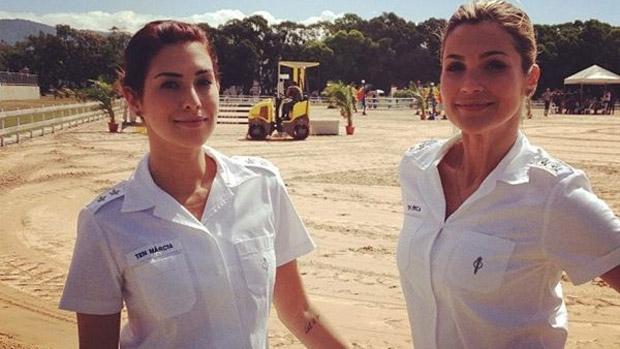 Fernanda Paes Leme e Flávia Alessandra, as veterinárias de Salve Jorge