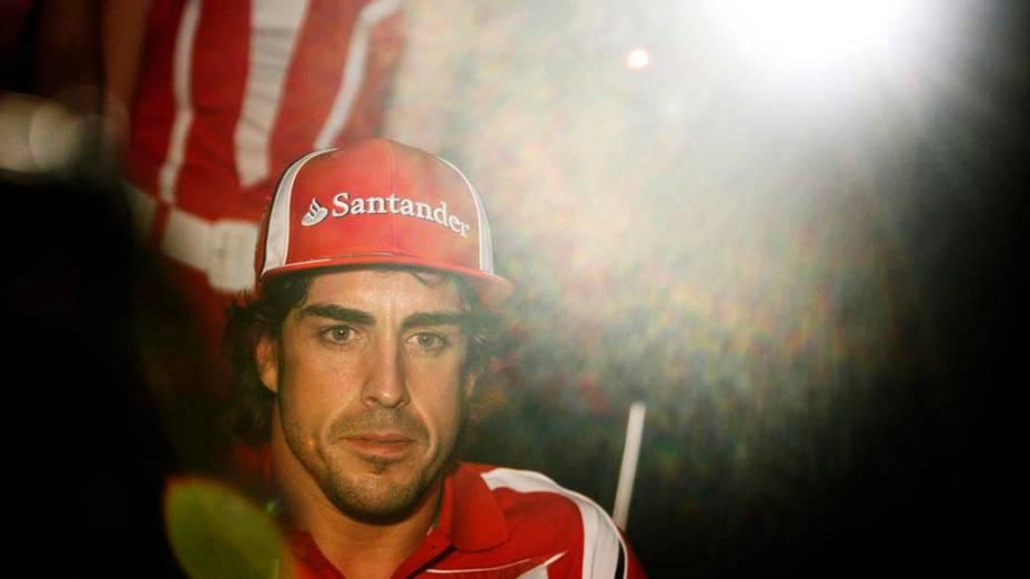O piloto espanhol Fernando Alonso