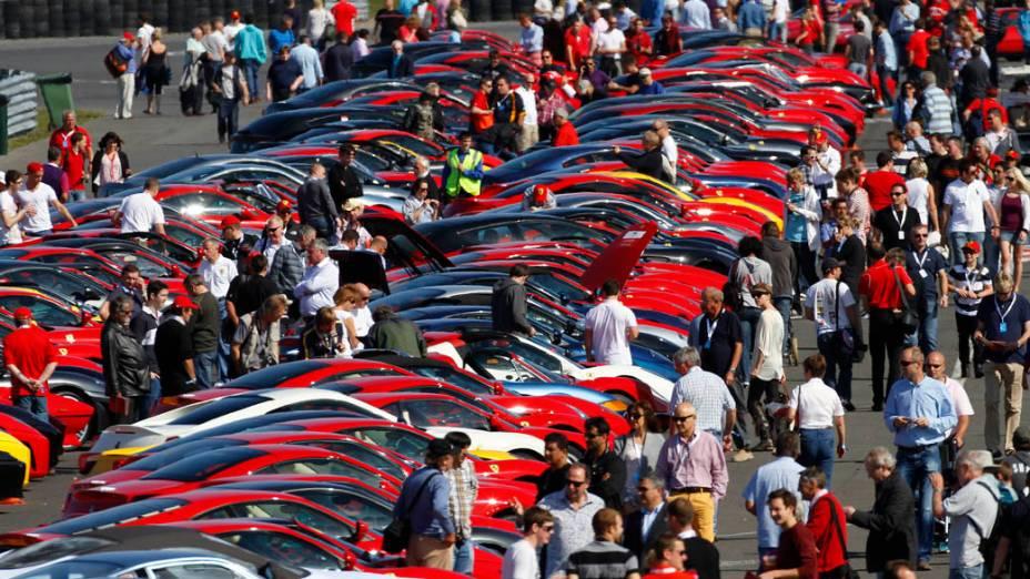Encontro Ferrari Racing Days, em Silverstone