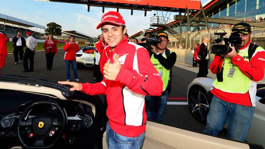 Felipe Massa no Ferrari Racing Days, em Silverstone