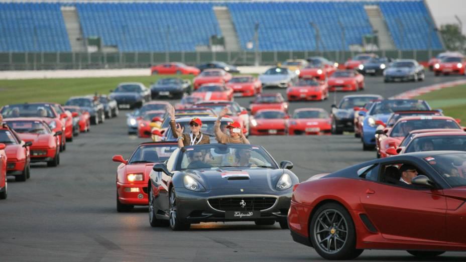 Participantes no Ferrari Racing Days, em Silverstone