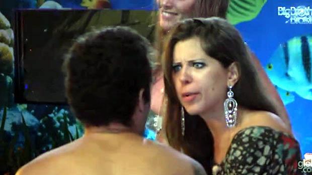 Nasser e Andressa brigam durante a festa