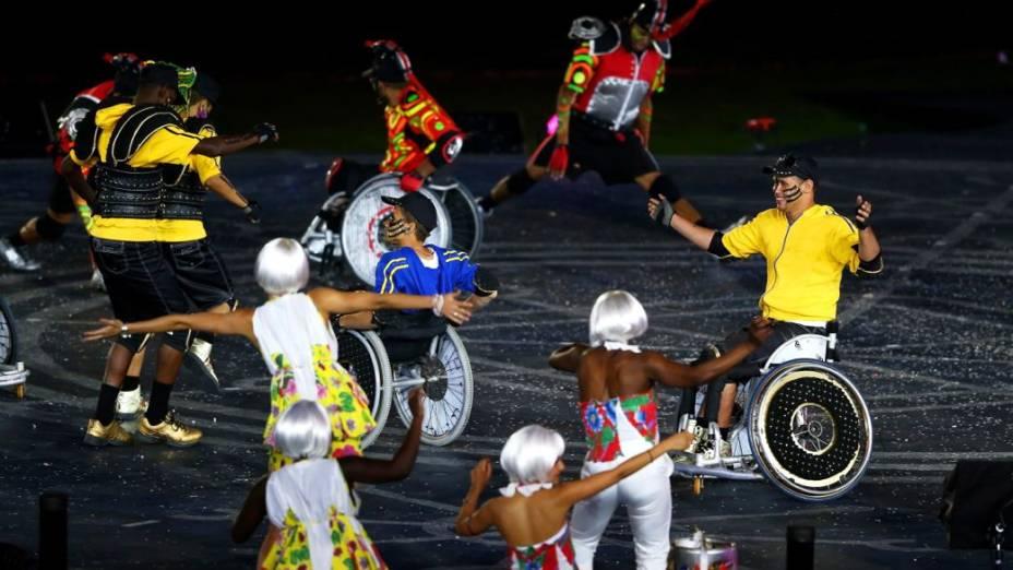 Apresentação da Rio-2016 durante o encerramento da Paralimpíada de Londres-2012
