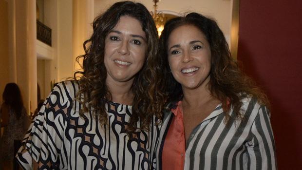 Malu Verçosa e Daniela Mercury no lançamento da novela Em Família