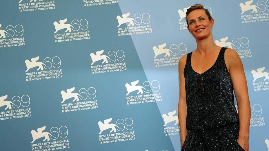A atriz francesa Cecile De France durante o 69º Festival de Cinema de Veneza