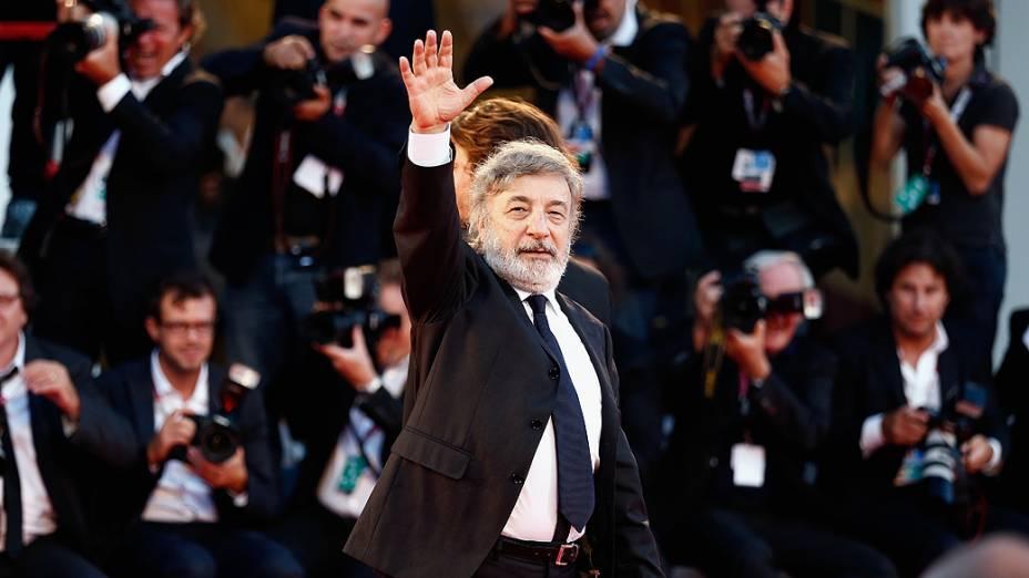 """Diretor italiano Gianni Amelio chega para a exibição do filme """"LIntrepido"""", apresentado em competição durante o 70º Festival de Veneza - 04/08/2013"""