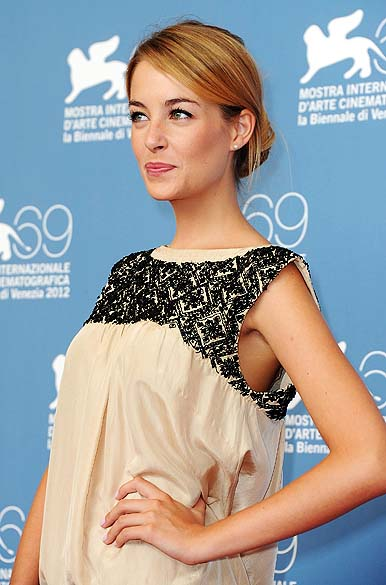 A atriz Victoria Guerra durante o 69º Festival de Cinema de Veneza, em 04/09/2012