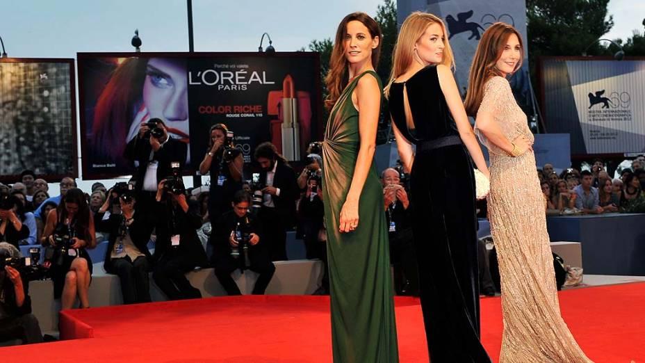 As atrizes Maria João Bastos, Victoria Guerra e Elsa Zylberstein durante o 69º Festival de Cinema de Veneza, em 04/09/2012