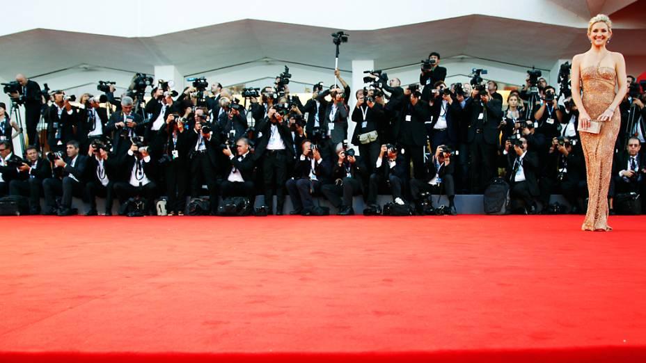 """Atriz americana Kate Hudson, chega para o tapete vermelho do filme """"O Fundamentalista Relutante"""" no 69º Festival de Cinema de Veneza"""