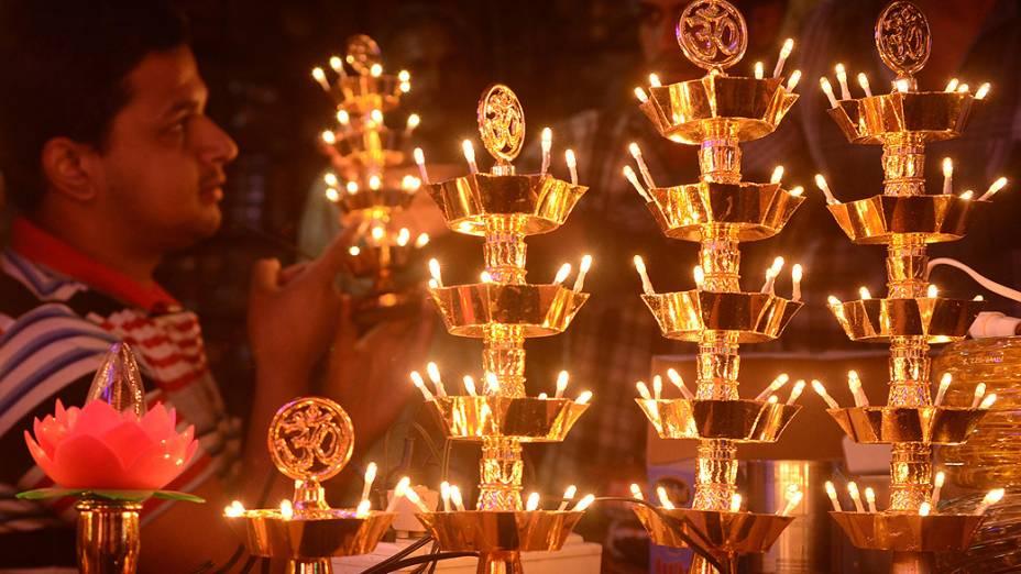 O Diwali,  festival das luzes, está entre as datas mais importantes do calendário hindu