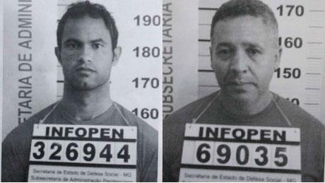O goleiro Bruno Fernandes e o policial Marcos Paulista, envolvidos na morte de Eliza Samudio